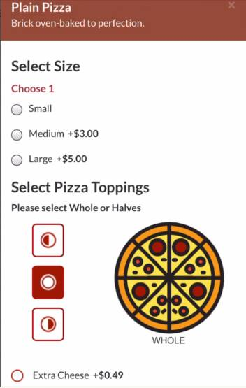 Pizza Builder - Online Ordering for Restaurants