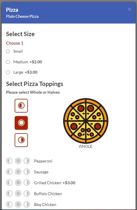 Pizza Builder - Online Ordering for Restaurants